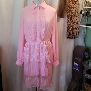 CBR Exclusive Selection Pink Ruffles Dress NWT
